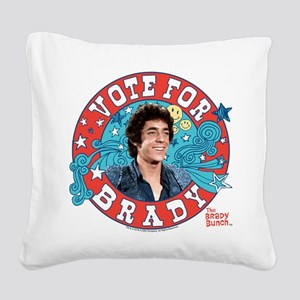 The Brady Bunch: Vote For Gre Square Canvas Pillow